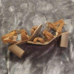 Esprit Brown lace up Sandal Size 7.5